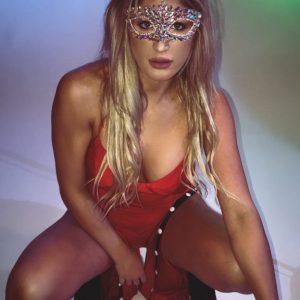 SEXY SLIT Red One Piece
