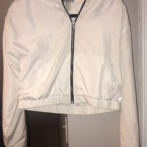 Figure Flattering White Crop Top Jacket
